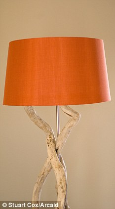 Get crafty: Make sure you check what the fabric looks like with the lamp on before you begin