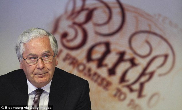 Gloom: Governor Sir Mervyn King said the economy will not grow during 2012