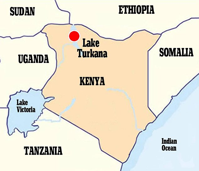 The fossils were found at the Lake Turkana area of Kenya, also known as the 'cradle of life' due to the huge number of early human fossils found there.