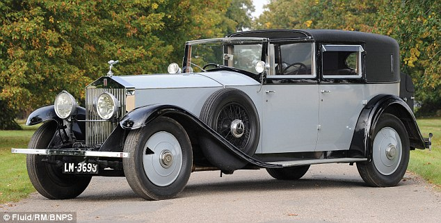 Motoring from a bygone age: The beautiful pre-war Rolls Royce Phantom owned by Lord Mounbatten is to be sold at auction