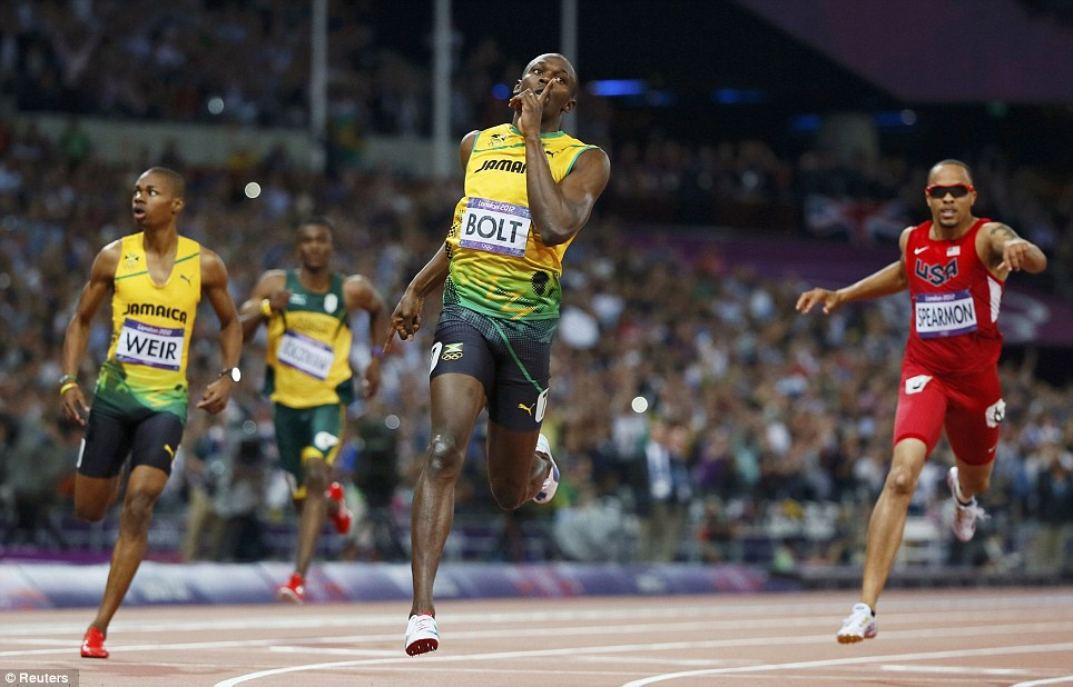 I'm No.1: Jamaica's Usain Bolt storms to victory in the men's 200m final