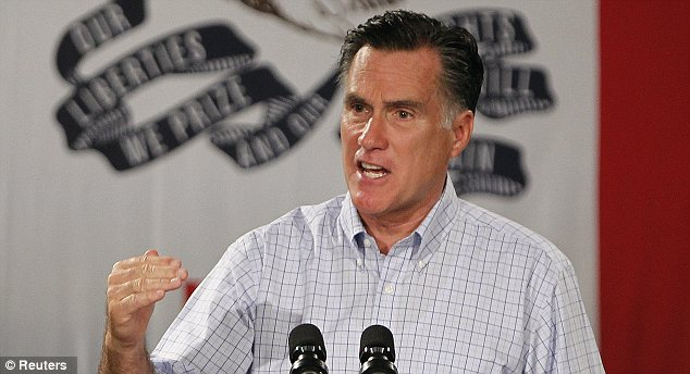 Firing back: Romney, pictured in Iowa on Wednesday, has argued that Obama 'keeps on just running' ads that various fact-checking organizations have called inaccurate