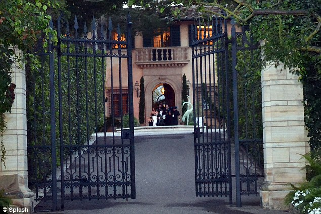 Behind the gates: Guests at the ceremony included Ciara, Eva Longoria and Carmelo Anthony