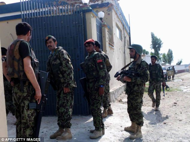 The attack which killed three soldiers this morning is the latest in a series of so-called green-on-blue attacks in Afghanistan. The Afghan soldiers in the picture are not related to the incident
