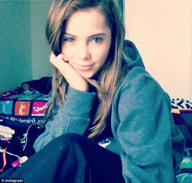 Everyday star: Posting the personal picture on Instagram, McKayla Maroney poses and writes: 'Sweat pants, hair tied, chillin with no make up on.. Relaxing day in the village!! #dayoff'