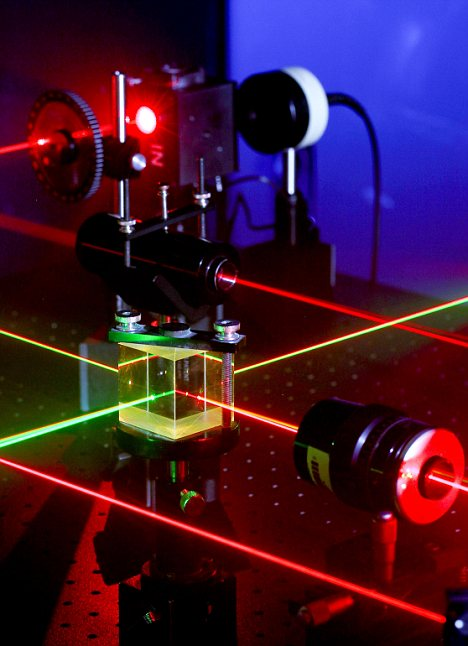 Quantum researchers have managed to send a single proton 97km across a lake in China. It is hoped the work could lead to ultra fast communications systems.
