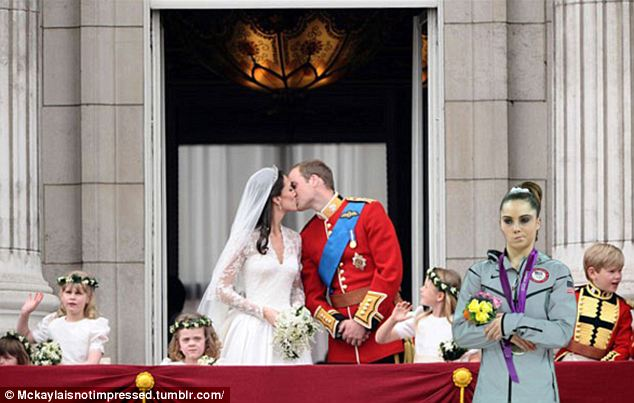 Where is the love! One Tumblr user posted McKayla disapprovingly glaring at Kate and Will's wedding kiss