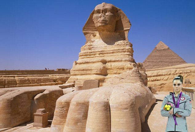 The Sphinx and the pyramids: She could have built those.