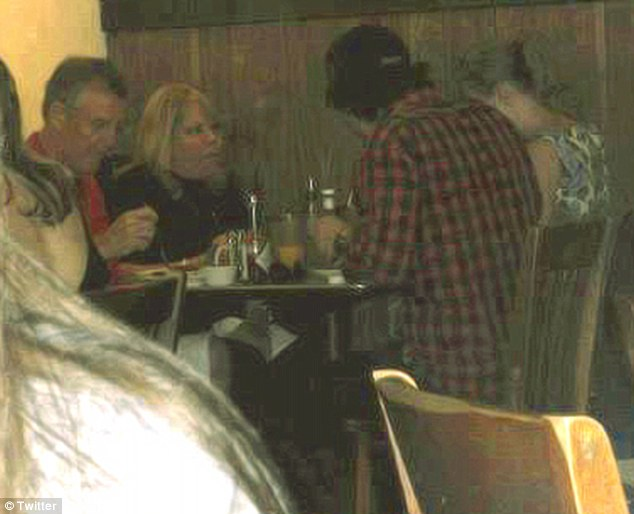 OMG! A fan tweeted this picture of Taylor Swift and Conor Kennedy out to dinner with her parents in Nashville