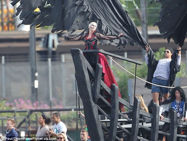 Singer Annie Lennox was also photographed in the Dagenham dress rehearsal