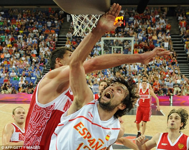 Out to win: Spain are hoping to record an upset and sneak a gold medal from the USA team