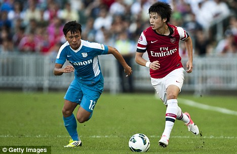 Wing man: Ryo Miyaichi is close to completing a loan move to Wigan
