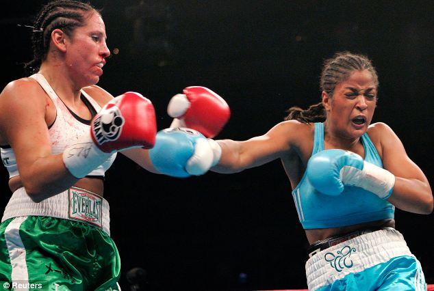 Leg-up: Laila Ali, above right, traded on her father Muhammad¿s name