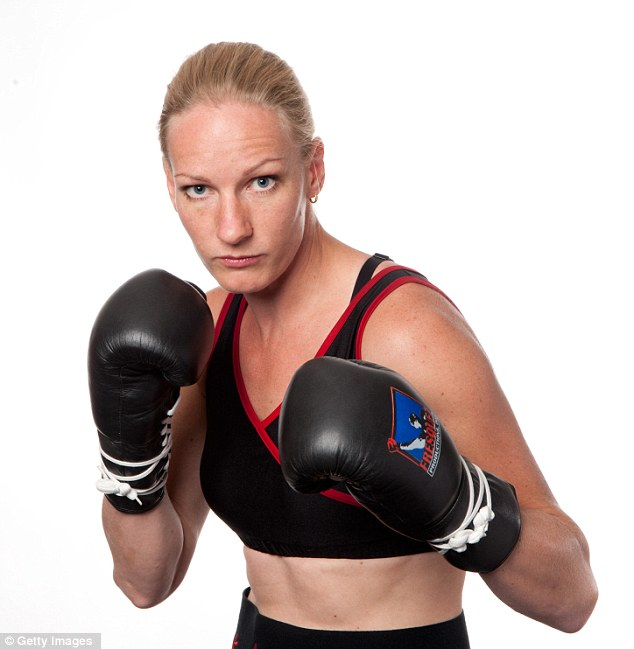 French boxer Anne Sophie Mathis poses at a private photo shoot on June 10, 2011 in Albuquerque, New Mexico. She is ranked #1 best female welterweight in the world by WBAN and 2nd in the world by BOXREC