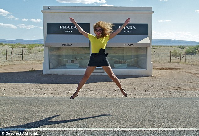 Jump for joy! How exciting to be able to afford everything inside that branch of Prada