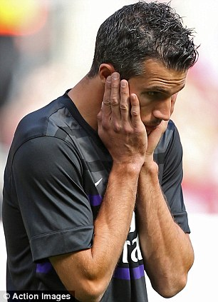 Maybe I won't be missed: Robin van Persie only featured for 20 minutes as his new team-mate upstaged him