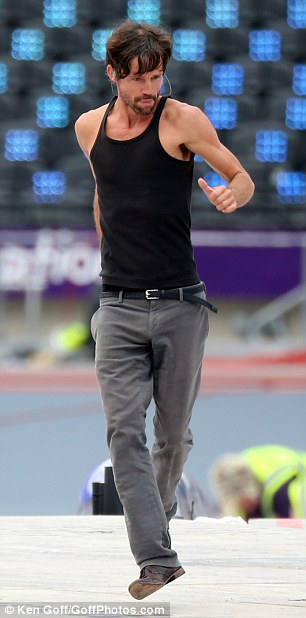 Practice makes perfect: Jason Orange perfects his dance moves ahead of tonight's performance