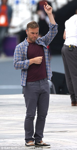 Professional: Gary displayed a hint of sadness as he ran through dance moves alone