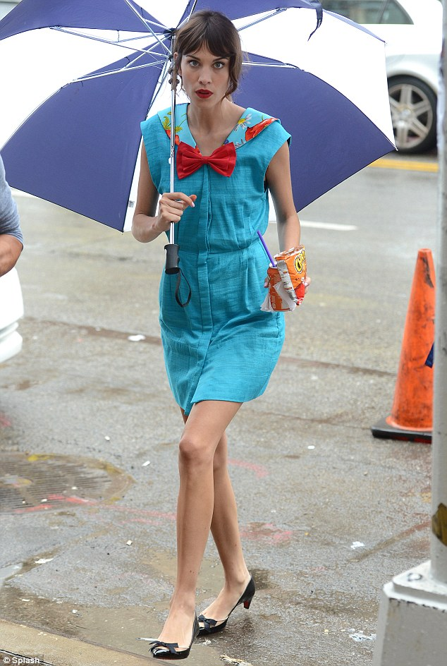 Latest career move: The brunette was spotted on the set of Gossip Girl earlier this month