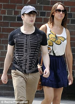 Radcliffe seen here with Rosie Coker in New York last August