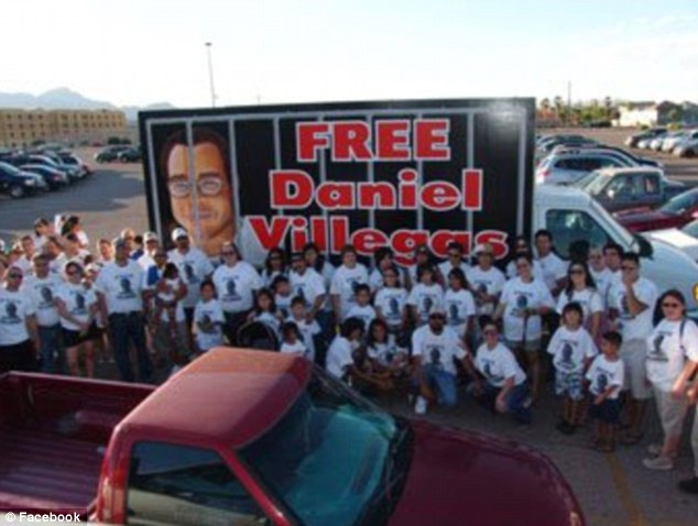 Team effort: Villegas' supporters claim that he had inadequate legal representation during his trial and is innocent