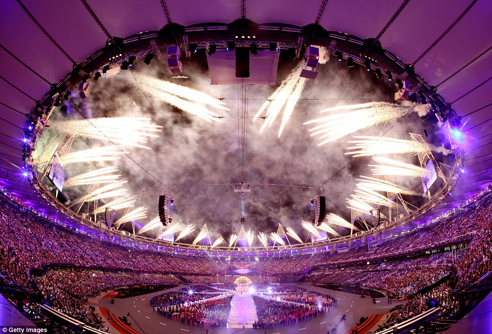 World party: The closing ceremony brought to an end 16 days of thrilling competitions involving athletes from across the globe