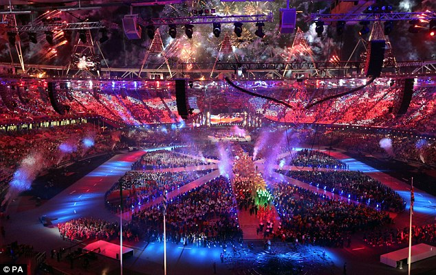 Dazzling: The Who plays for thousands of fans at the Closing Ceremony - but millions more in the U.S. had to wait to watch the performance. It is just the latest in a string of gaffes by NBC during the Olympics