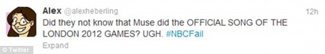 Outrage: Viewers lambasted NBC on Twitter for cutting out the highly-anticipated musical acts