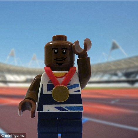 Lego Mo Farah claims gold in either the 5,000m or the 10,000m