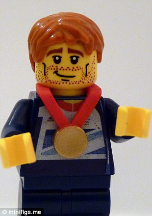 Lego cycling wonderkid Jason Kenny looking pretty content having just snared the gold medal in the velodrome sprint