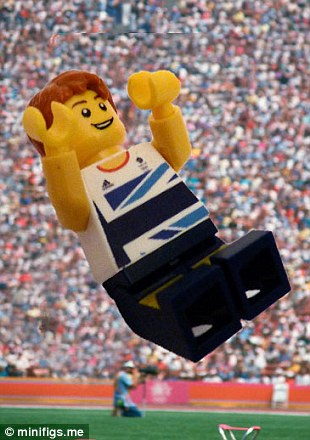 Lego Greg Rutherford leaps for gold in the long jump