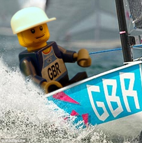 Lego Ben Ainslie sails towards the gold medal