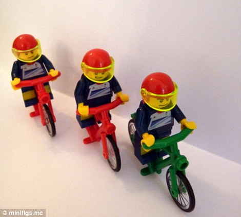 Sir Chris Hoy, Jason Kenny and Philip Hindes win Lego gold in the team sprint
