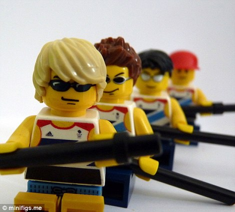 Lego Alex Gregory, Pete Reed, Tom James and Andrew Triggs Hodge row their way to gold