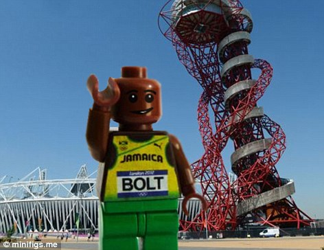 Jamaica's lucky super-sprinter Usain Bolt not only pocketed three gold medals, he also got a Lego makeover