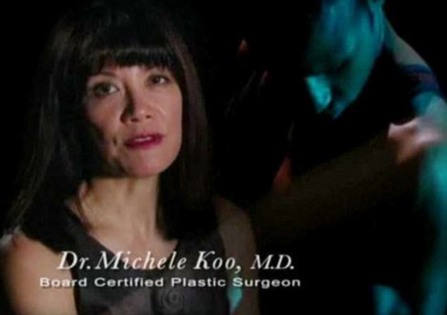 Denial: Dr Koo blames the company that runs her website