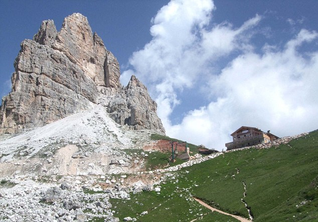 Laura stayed the night in family-run Rifugio Averau, which offers good home-cooked food and comfy dorms