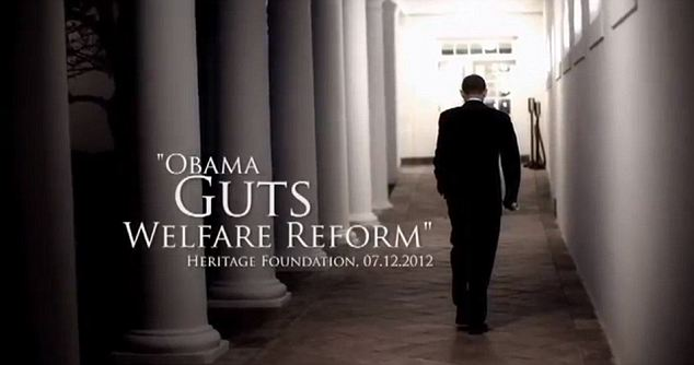 Battle: Romney's campaign has released ads criticising Obama