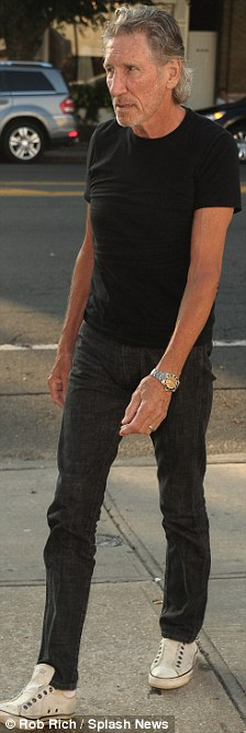 Not-so-troubled Waters: The former Pink Floyd star looked happy and relaxed