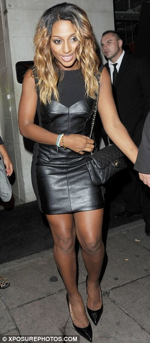 Very sprightly: Alexandra Burke looks remarkably fresh-faced as she leaves the DSTRKT nightclub in London at 3.30am this morning