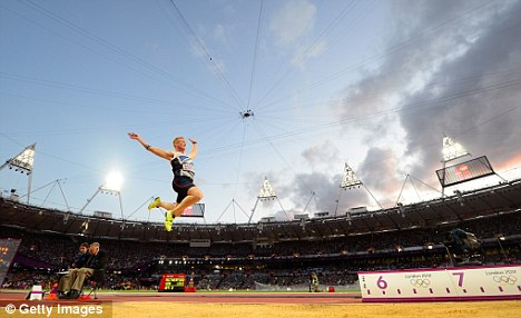 Flying high: The 25-year-old is considering running in the 100m