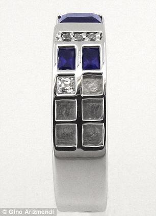 True blue: Tardis inspired ring by Gino Arizmendi