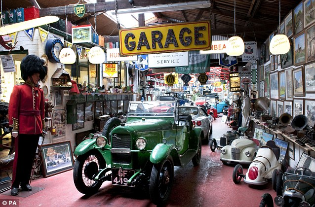 At present the vehicles are locked away behind glass cabinets but in this museum the public could touch the cars, open their doors and look inside, and flick through the old photo albums