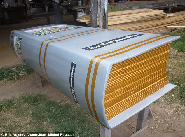 By the book: The owner of this coffin decided on a Bible design