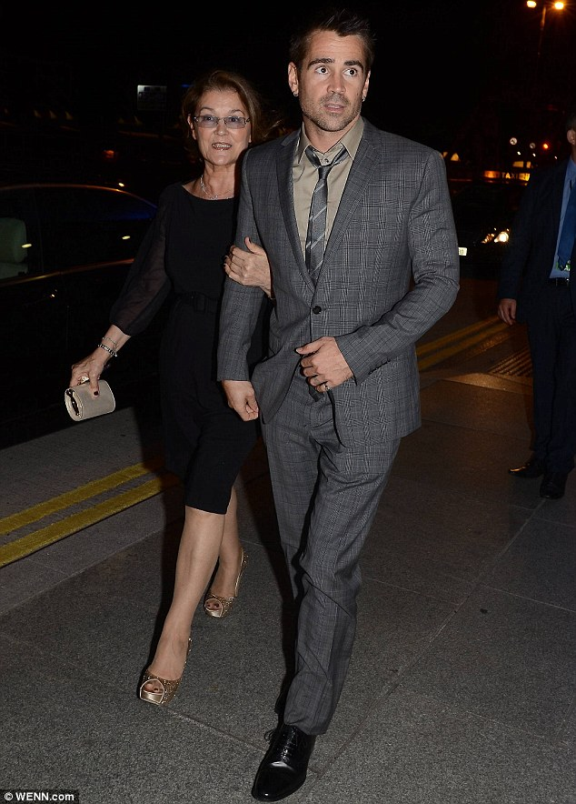 Mummy's boy: Colin brings his mother Rita to the after-party