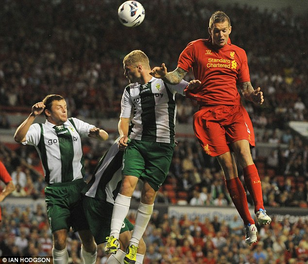 Heading off? Manchester City are keen on Agger but the defender is happy at Liverpool