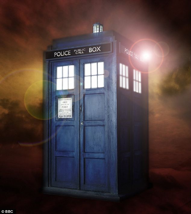 The inspiration: The old-fashioned blue police box that the Doctor and his sidekicks use to travel the universe