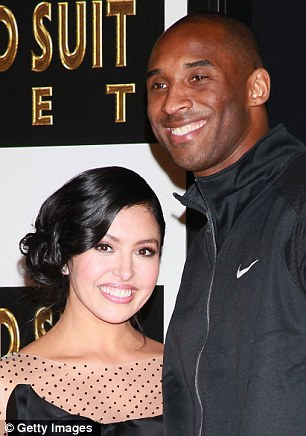 Stepford wife? Vanessa supported  Kobe at his hand and footprint ceremony at the Grauman's Chinese Theater in February last year