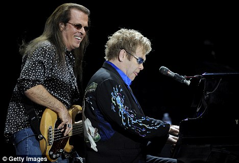 Passed away: Sir Elton John's long-running bassist Bob Birch has died of an apparent suicide