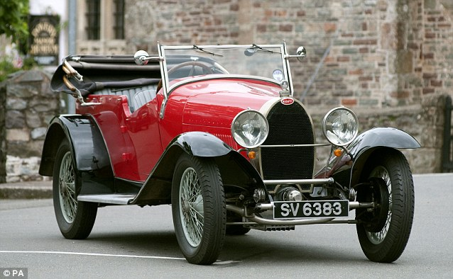 A 1927 Bugatti Type 40 Tourer, one of 10 cars and 13 motorcycles going up for auction at Bonhams in London